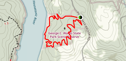 Waldo Purple and Red Trails Map