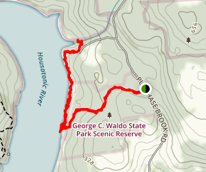 Waldo to Town Park Map