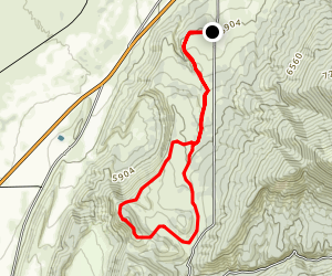 Manti-Palisade Ridge Hike Map