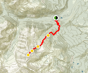 North Mount Elbert Trail Map