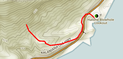 Koko Crater Arch Trail Map