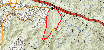 No Name Ridge Trail to Deer Canyon Hike in Campsite Map