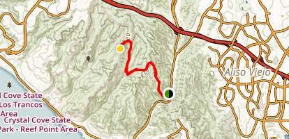 Big Bend Trail to Old Emerald Trail to Upper Moro Campground Map