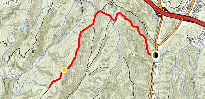 Willow Trail to Moro Ridge Road and Lower Moro Campground Map