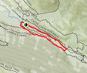 Cache Creek and Hagen's Trail Loop Map
