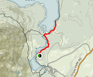 Leigh Lake Trail: Short Version Map