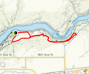 River's Edge Trail to Rainbow Dam Overlook Map