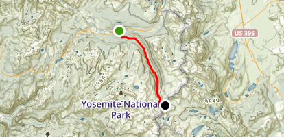 John Muir Trail: Tuolume Meadows to Donohue Pass Map