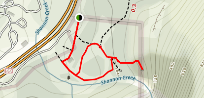 Shannon Falls Lookout Map