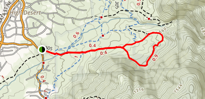 Primitive Trail 305 Loop Map