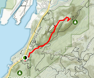 Connector Trail: Shannon Falls to Stawamus Chief Map