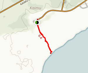 Black Sand Beach Trail Map