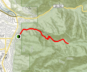 Ferguson Canyon Trail to Upper Meadow Map