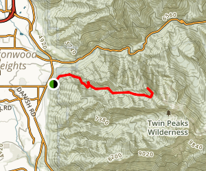 Ferguson Canyon to Storm Mountain Map