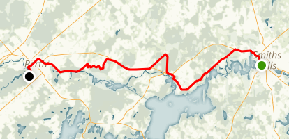 Rideau Trail: Smiths Falls to Perth Map