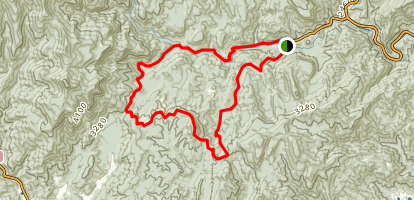 Butter Gap to Art Loeb to Davidson River Trail Loop Map