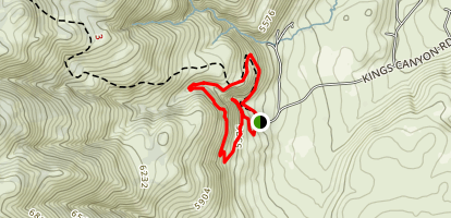 Waterfall Trail and North Kings Loop Map