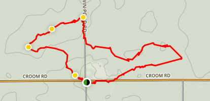 Croom Bike Trail Fr 5 and 7 Map