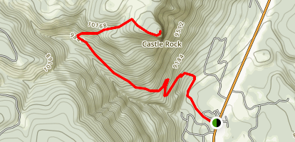 Castle Rock via Elbert Creek Trail Map