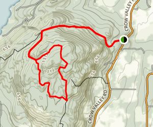 Turtleback Mountain Loop Map