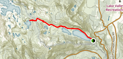 Lake of the Woods via Pacific Crest Trail Map