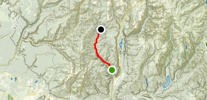 Hermosa Creek Trail from Hermosa Map