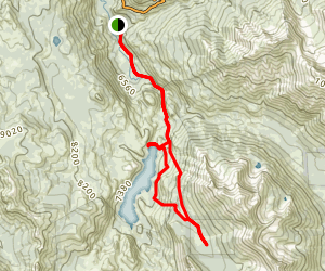 Kennedy Meadows to Relief Reservoir Loop Trail Map