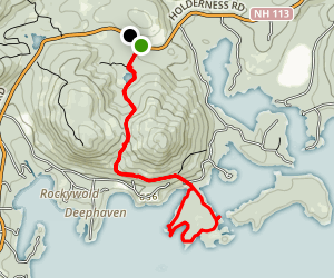 Five Fingers via Col Trail Map