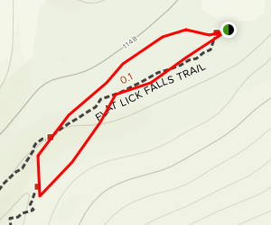Flat Lick Falls Trail Map