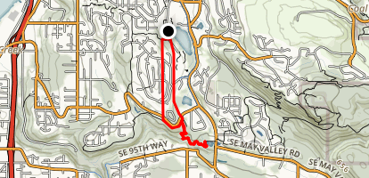 Olympus Trail to Heritage Trail and Waterline Trail  Map