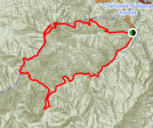 Mount Cammerer to Big Creek Trail via Chestnut Branch Trail Map