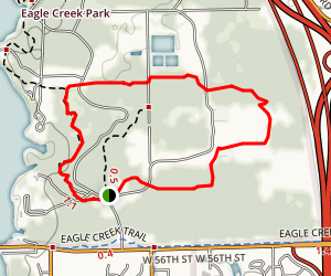 Eagle Creek Orange Trail Map