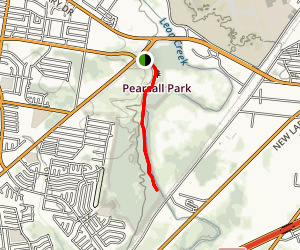 Leon Creek Greenway Trail: Pearsall Park Map