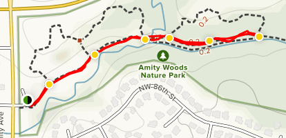 Amity Woods Nature Trail Map