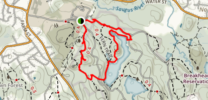 Pearce Lake Beach and Ridge Trail Loop Map