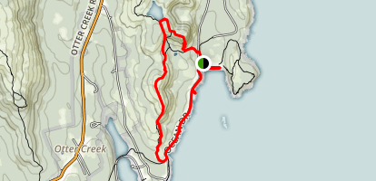 BeeHive to Gorham Mountain to Ocean Path Loop Map