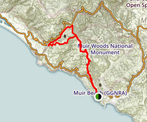 Dipsea Trail to Steep Ravine Trail Loop via Coastal Trail Map