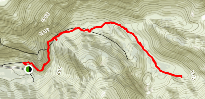 Perseverance Trail to Silverbow Basin and Lurvey Creek Map