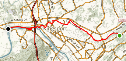 Kingsport Greenbelt  Map