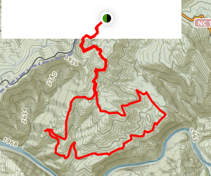Nolichucky River Overlook and Shinbone Loop Map