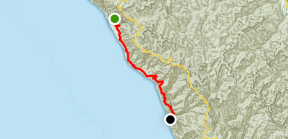 Lost Coast Trail: Needle Rock to Wheeler Camp Map