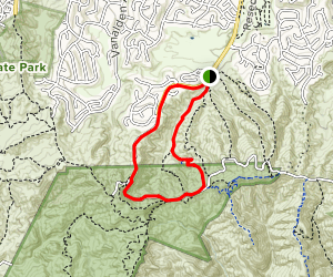 Caballero Canyon and Reseda Loop Map