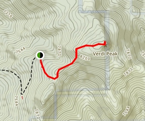 Verdi Peak Fire Lookout Map