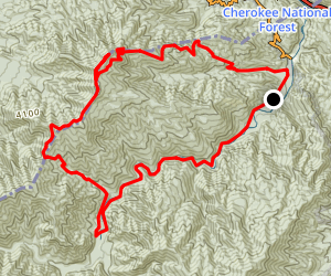 Mount Cammerer via Big Creek Trail Map