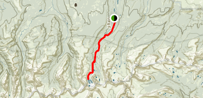 Lower Red Castle To Upper Red Castle Lake Map