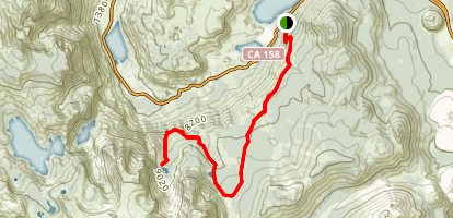 June Lake to Fern Lake Map