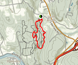 Cascade Trail to Tulip Tree Trail to Beaver Meadow Trail and River Trail Map