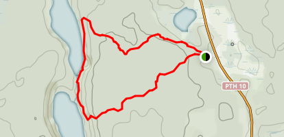 Bead Lakes Trail Map