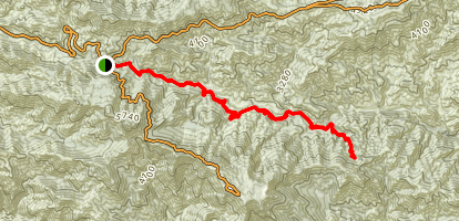 Gabrielino Trail from Redbox to Devore Trail Camp Map