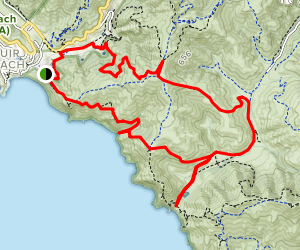 Muir Beach to Tennessee Beach Loop Map